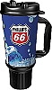 Phillips 66 Branded 32oz Thermal Insulated Car Mug w/ Rubber Bottom & Handle
