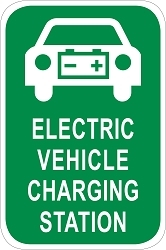 Electric Vehicle Charging Station Sign - Car Graphic