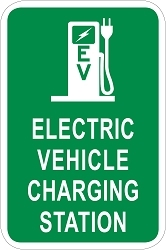 Electric Vehicle Charging Station Sign - Pump Graphic