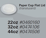 BP Helios - 32oz Paper Cold Cup Flat Lid