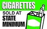 Cigarettes Sold At State Minimum - Pump Topper Insert