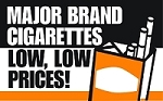 Major Brand Cigarettes - Pump Topper Insert