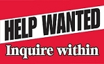 Help Wanted Inquire Within - Pump Topper Insert