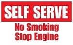 Self Serve No Smoking - Pump Topper Insert