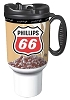Phillips 66 Branded 16oz Thermal Insulated Car Mug w/ Handle