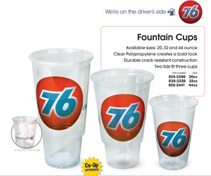 76 Branded - 20oz Fountain Cup