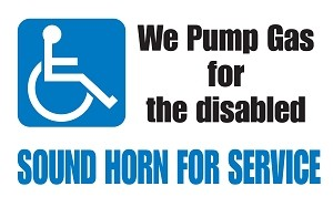 We Pump Gas For The Disabled - Pump Topper Insert